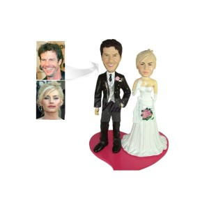 Custom wedding cake topper example